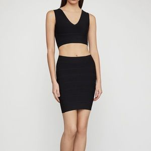 BCBG Simone Textured Power Skirt
